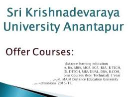 best distance education university ideas online  sri krishnadevaraya university distance education anantapur