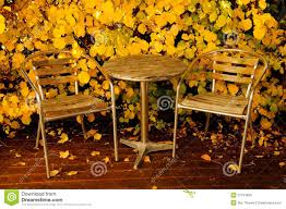 autumn furniture. Garden Furniture In Autumn