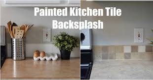Painting Kitchen Tile Backsplash Magnificent Keep Home Simple Painted Kitchen Tile Backsplash