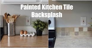 Painting Kitchen Tile Backsplash Magnificent Keep Home Simple Painted Kitchen Tile Backsplash