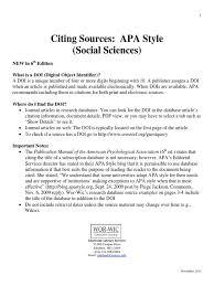 Apa Style Reference Citation Apa Style
