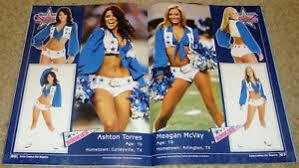 May 2010 Dallas Cowboys Magazine Sexy Cheerleaders Ashton