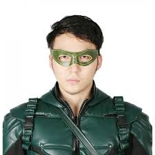 xcoser green arrow oliver queen leather eye patch