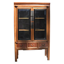 Antique design is on a high stage these days for a reliable quality. Antique Chinese Glass Curio Cabinet Ming Style For Sale At 1stdibs