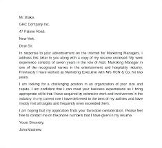 Assistant Marketing Manager Cover Letter Marketing Cover Letter Example Sample Executive Assistant