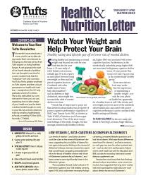 tufts health nutrition letter