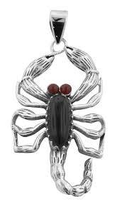 scorpion pendant onyx carnelian