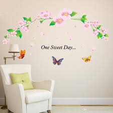 Wall Decor Sticker One Sweet Day Pink Cherry Blossom Tree Wall Decor Stickers Decal