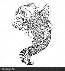 эскиз татуировки японская сома макро подробный эскиз рыбы