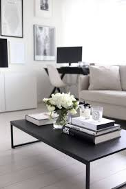 32 simple black and white understated book and flower display