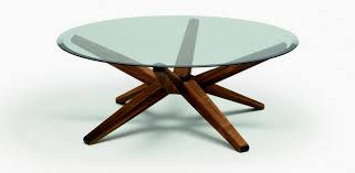 wooden base glass top coffee table