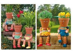 Creative Flowering Pots in your Garden