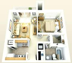 One Bedroom Apartment Plan Minimalist