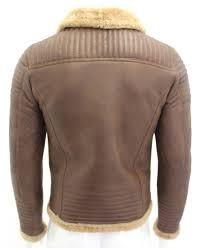 hermes chestnut brown black mens b3 er shearling sheepskin leather jacket