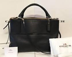 Image is loading Coach-Borough-28160-Bag-Pebbled-Leather-Black-Large-