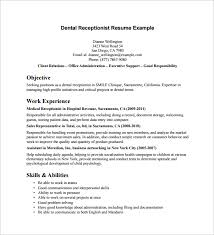 Sample receptionist resume 9 download free documents in for Resume template  for receptionist . Unforgettable receptionist resume ...