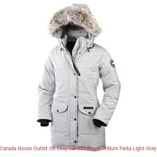 Canada Goose Outlet On Ebay Canada Goose Trillium Parka Light Grey For Women
