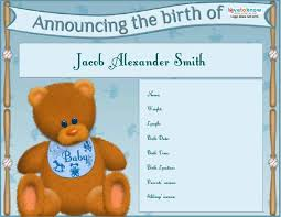 Template For Birth Announcement 46 Birth Announcement Templates Cards Ideas Wording