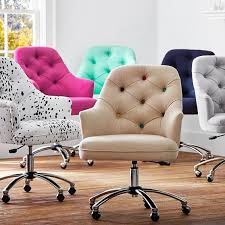 favorite tufted and upholstered rolling desk chair we bought two of the navy ones