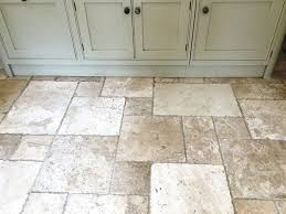 travertine floor tile surface is treated in mainly four ways