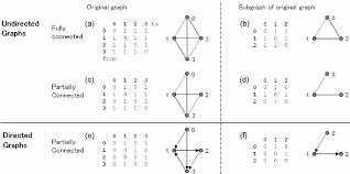 Adjacency Matrix And Graph Presentations Of Different Undirected And