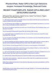 Garmin Red Light Camera Update Phantomplate Radar Gps Red Light Detectors Coupon By Gary