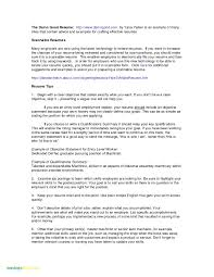 Personal Traits For Resume Example Resume