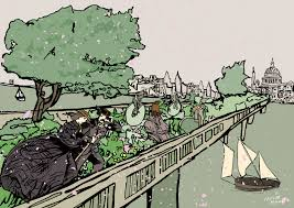 Small Picture A Windy Day on the Garden Bridge in London 1884 natalieknowlesart