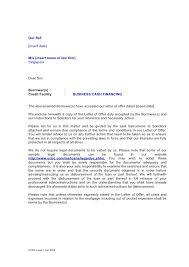 Letter Of Instruction For Business Cash Financing