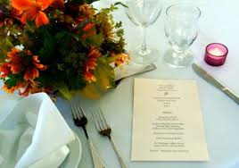 Dinner Reception Menu Quarrystone House Bed And Breakfast