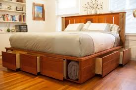 Alluring King Size Bed Frame With Drawers Plans and King Size Bed Frame  With Storage Southbaynorton