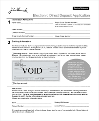 Sample Direct Deposit Form 11 Free Documents In Word Pdf
