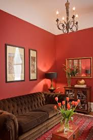 design idea traditional red living room 1