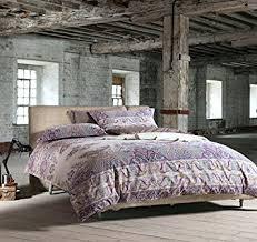 Amazon.com: Bohemian Paisley Duvet Quilt Cover Light Purple Boho ... & Bohemian Paisley Duvet Quilt Cover Light Purple Boho Chic 100-percent  Cotton Bedding Set Oriental Adamdwight.com