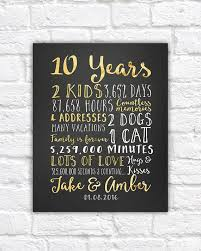 wedding anniversary gifts for him paper canvas 10 year 35th wedding anniversary gift ideas
