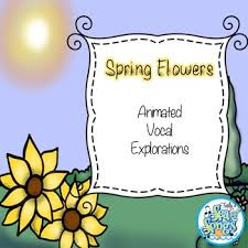 Spring Powerpoint Spring Flowers Animated Vocal Explorations Powerpoint And Worksheet