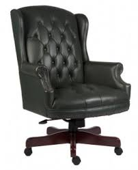green leather office chair. Chairman Traditional Office Chair Green Leather T