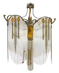 an art nouveau style rod chandelier by hector guimard