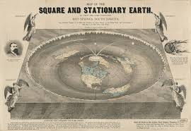 Map Of The Square And Stationary Earth Four Hundred Passages In