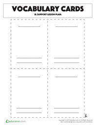 Blank Vocabulary Worksheet Template Vocabulary Cards Template Worksheet Education Com