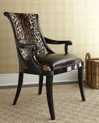 maisie hairhide chair with leather seat and aubergine finished gany frame by maitland smith at horchow