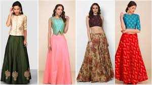 Designer Long Skirt Dresses Designer Long Skirts And Crop Tops Youtube