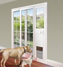 image of pet doors sliding wall doors mounted 50 gallon trash can in sliding glass