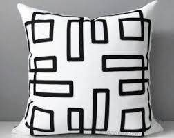 modern black white. simple black sale  modern black white outdoor pillow cover decorative  geometric cover for n