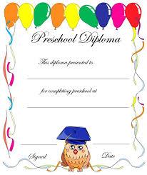 Prek Diploma Printable Certificates For Pre K Download Them Or Print