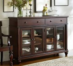sideboards astonishing buffet table with glass doors glass buffet throughout exciting wood buffet with glass doors