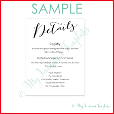 wedding accommodations template free wedding accommodation card template 194744 wedding details card