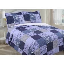 Purple Quilts & Coverlets For Less | Overstock.com & Floral Patchwork and Sherpa Reverse Quilt Set Adamdwight.com