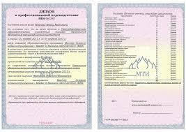 Документы об образовании и или квалификации Документы об  Профессиональная переподготовка