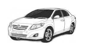 Como desenhar um Toyota Corolla (carro) - How to Draw a Toyota ...